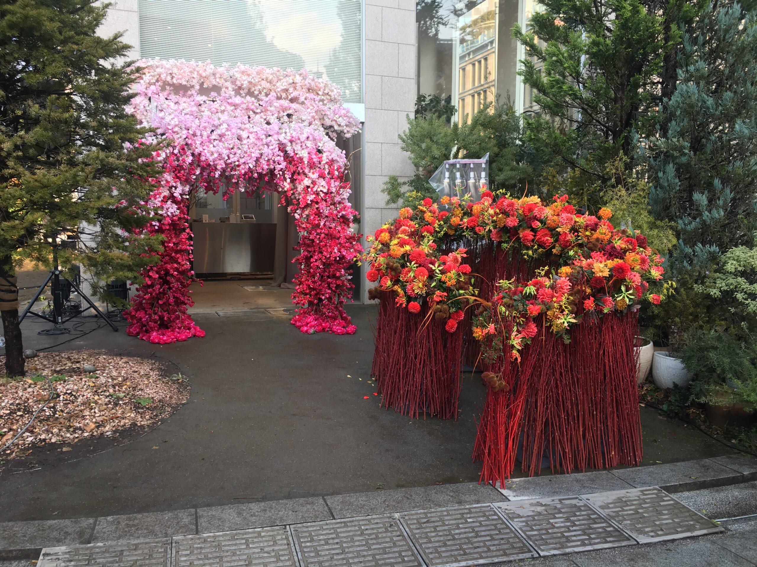 日比谷花壇設立 70 周年記念ライトアップセレモニー